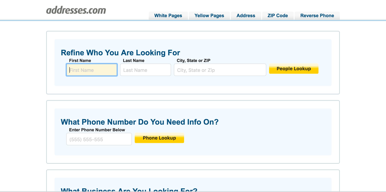 Addresses.com align=