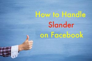 Facebook Slander