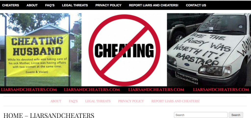 Liars And Cheaters Removal