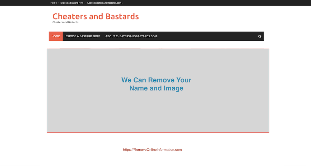 How to Remove CheatersAndBastards com Information Online